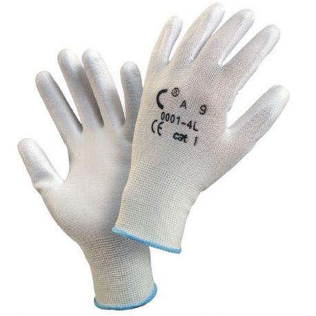Rękawice robocze powle.poliuretan BRITA białe