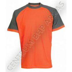 T-shirt roboczy OLIVER pomarańczowo-szary