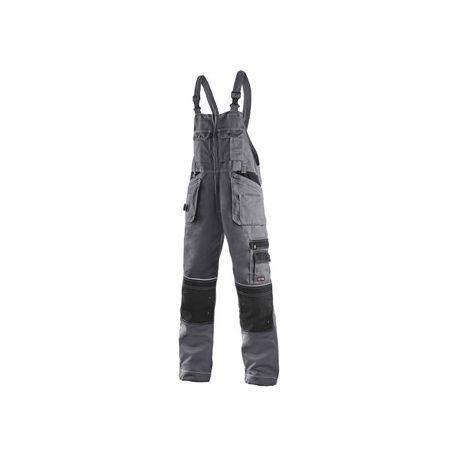 Spodnie robocze ogrodniczki ORION KRYSTOF sz-czarn