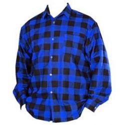 Koszula robocza flanelowa polska niebieska