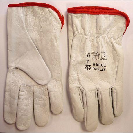 Rękawice robocze skóra lico kozia AST-1303