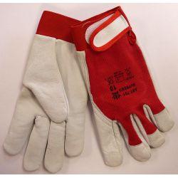 Rękawice skóra lico kozia rzep AST-701