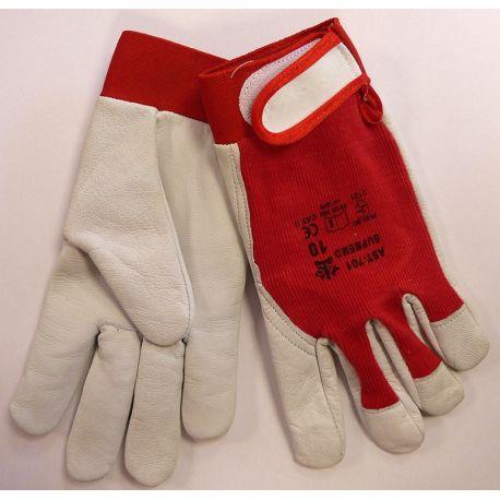 Rękawice robocze skóra lico kozia rzep AST-701